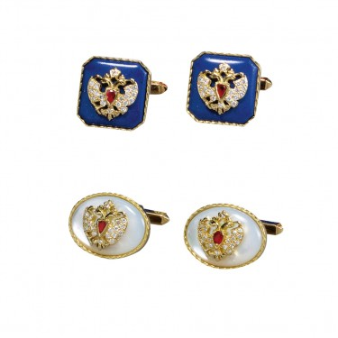 Romanov Cufflinks – Gold