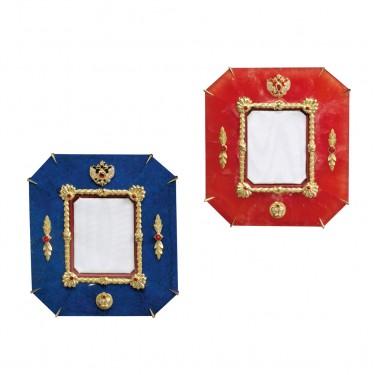 Romanov Picture Frames – Rhodocrosite – Lapis Lazuli*