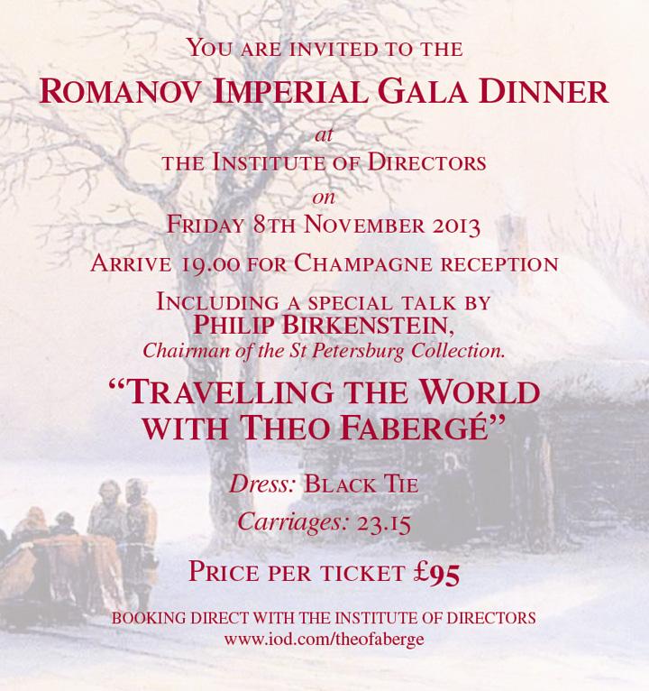 Romanov Imperial Gala Dinner