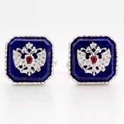Romanov Cufflinks – Lapis lazuli